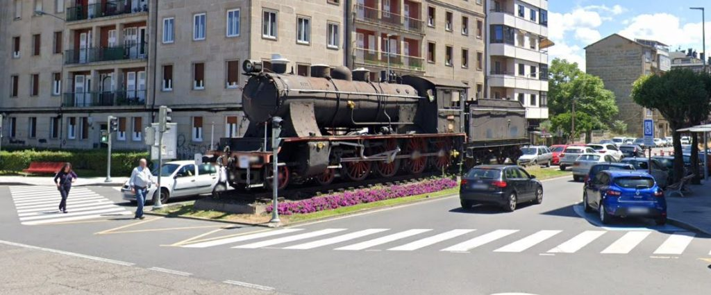 Máquina del tren en A Ponte