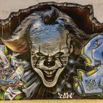 Graffiti. Pennywise el payaso bailarín de la película It