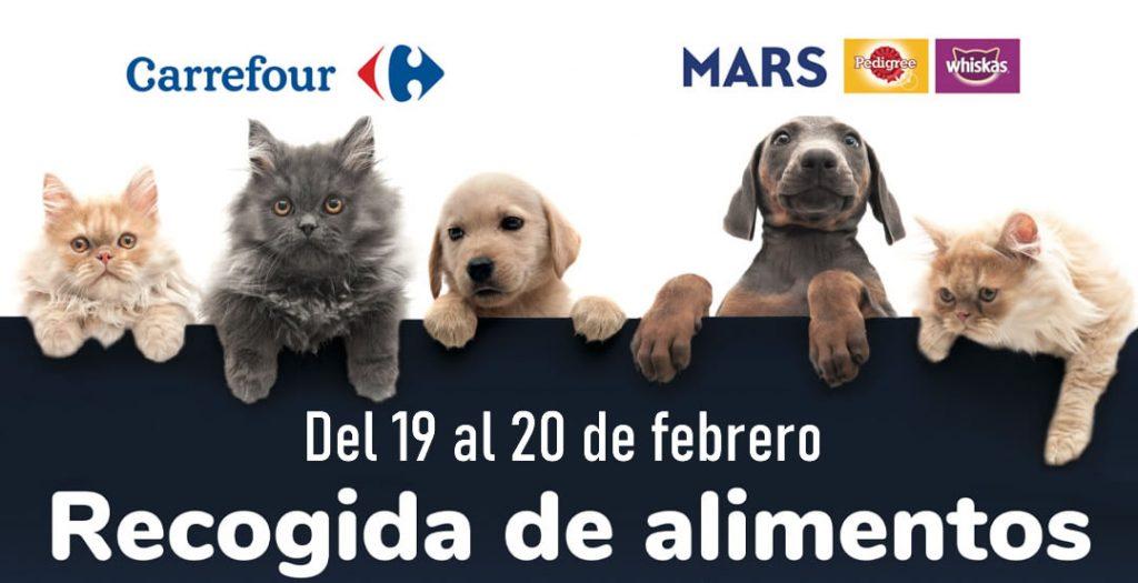 Recogida de alimentos para mascotas en Carrefour