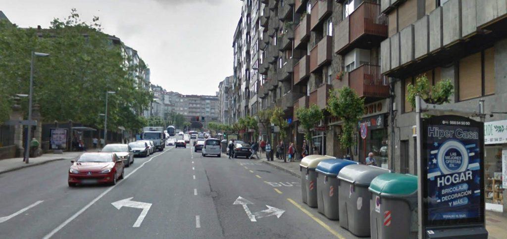 Calle Coruña de Ourense