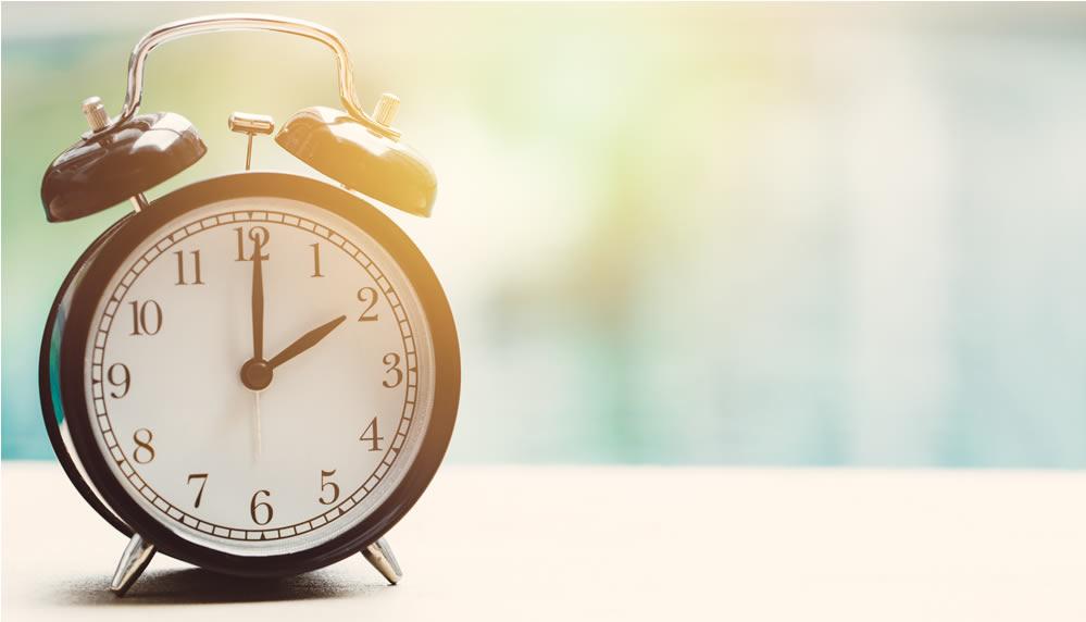 Reloj con las dos en punto
