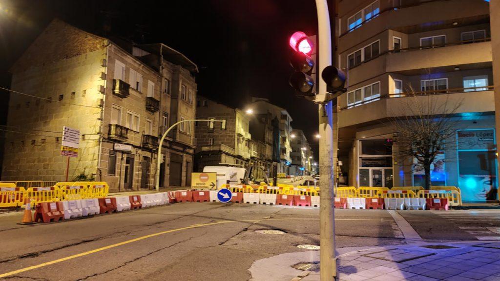 Cruce de Marcelo Macías con Avenida de Portugal en obras