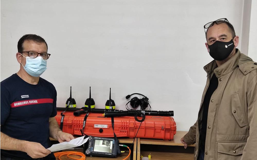 Entrega aparatos a Bomberos de Ourense