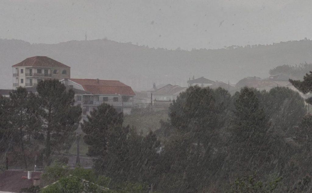 Lluvia en Ourense con Tormenta y granizo