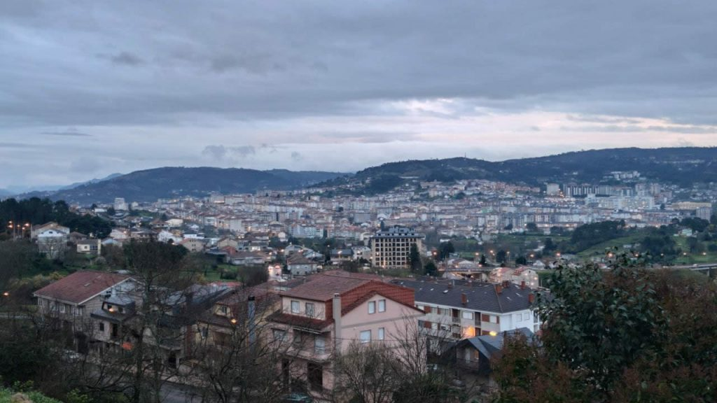 Vistas de Ourense desde la Finca Fierro