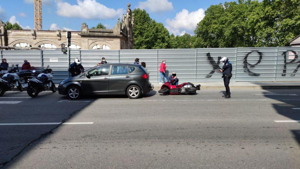 Accidente de moto en Progreso