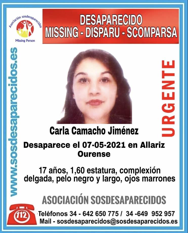 Chica desaparecida Allariz