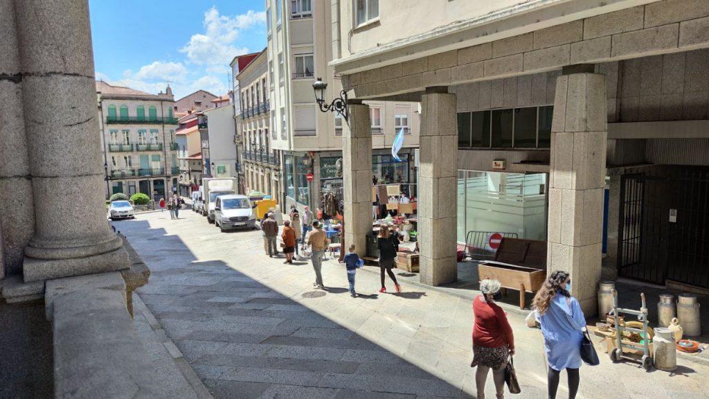 Feria de las antigüedades en Ourense