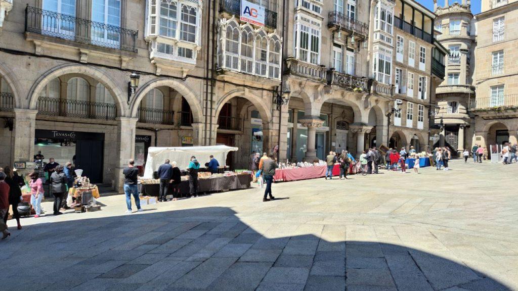 Feria de las antigüedades en Plaza Mayor