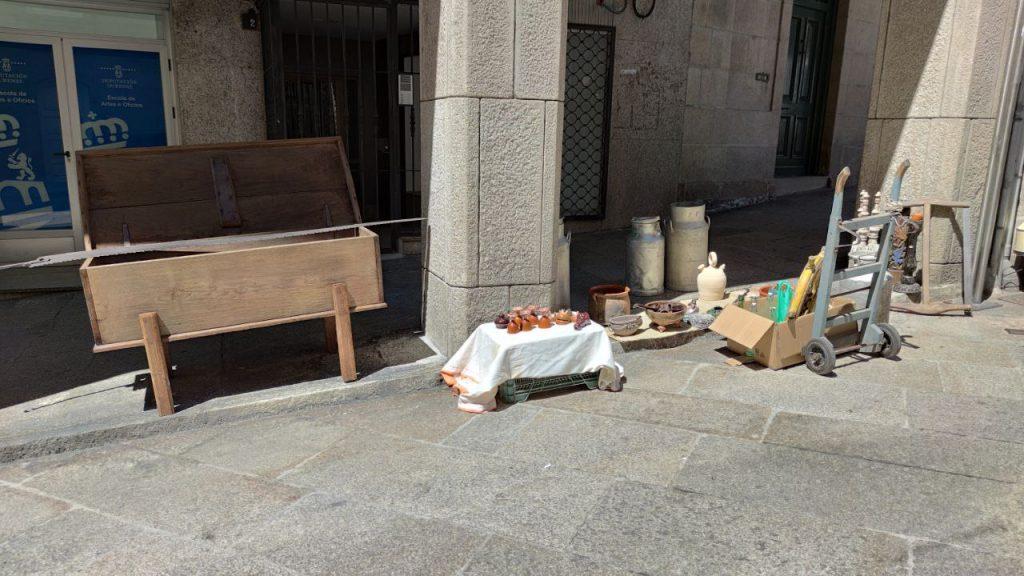 Feria de las antigüedades en la Plaza Mayor
