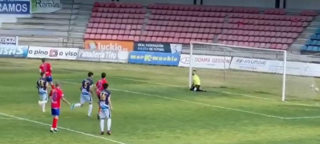 Gol de penalti UD Ourense