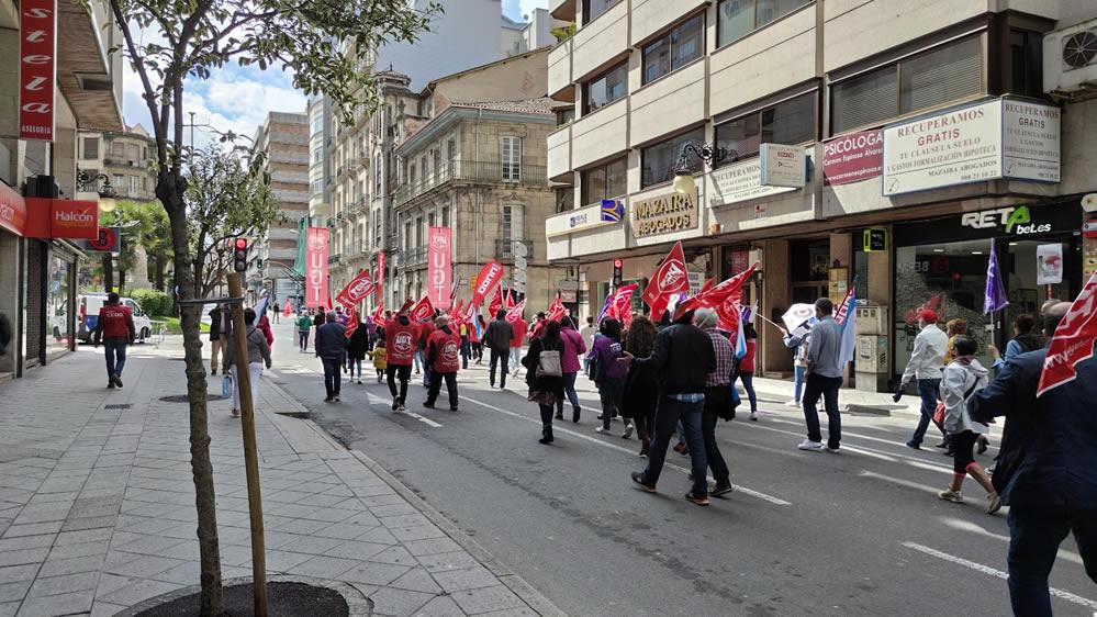 Imágenes de la manifestación de la UGT y CCOO por el Día de los Trabajadores 2021