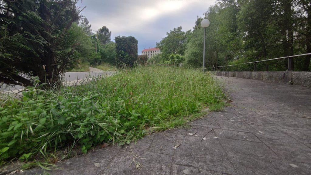 Parque Infantil con hierba alta en A Valenzá