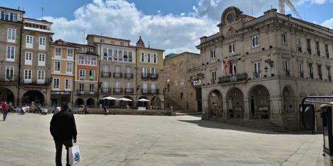 Plaza Mayor y Concello de Ourense