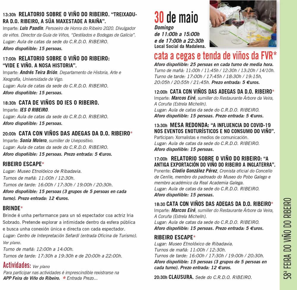 Programa feira do viño de Ribadavia 58 dos