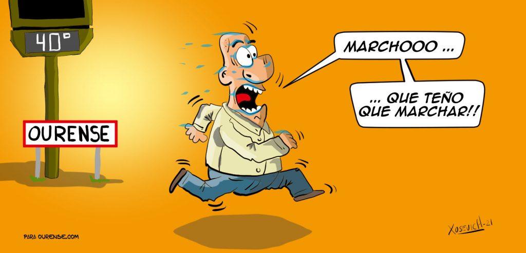 Xosevich 2021 Meme del calor en Ourense Humor chistes altas temperaturas bochorno galifornia