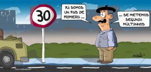 Xosevich 21 limites de velocidad a 30kmh humor chistes