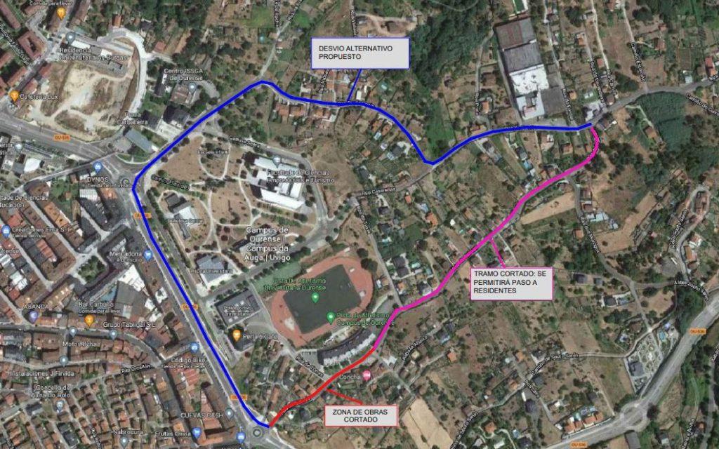 Mapa de A Rabaza