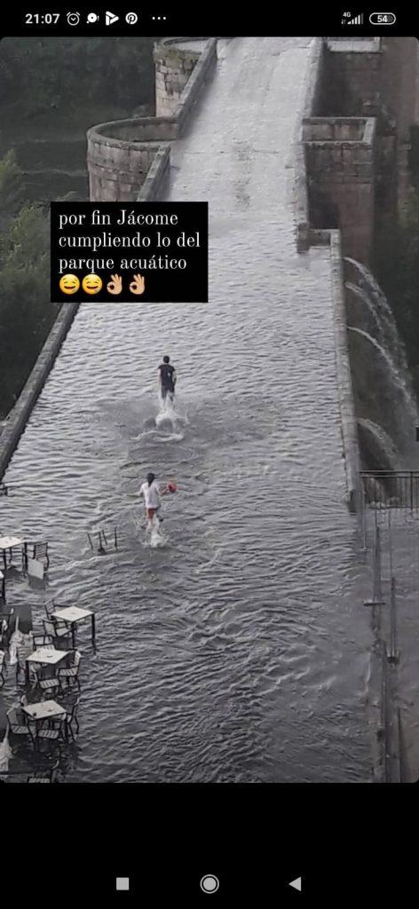 Parque acuático en el Puente Romano