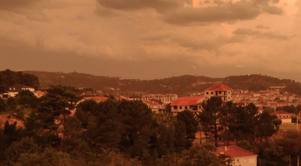 Tormenta y tiempo en Ourense