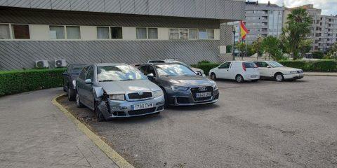 Depósito de coches de la Policía Nacional en Ourense