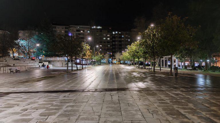 Jardín del Posio por la noche