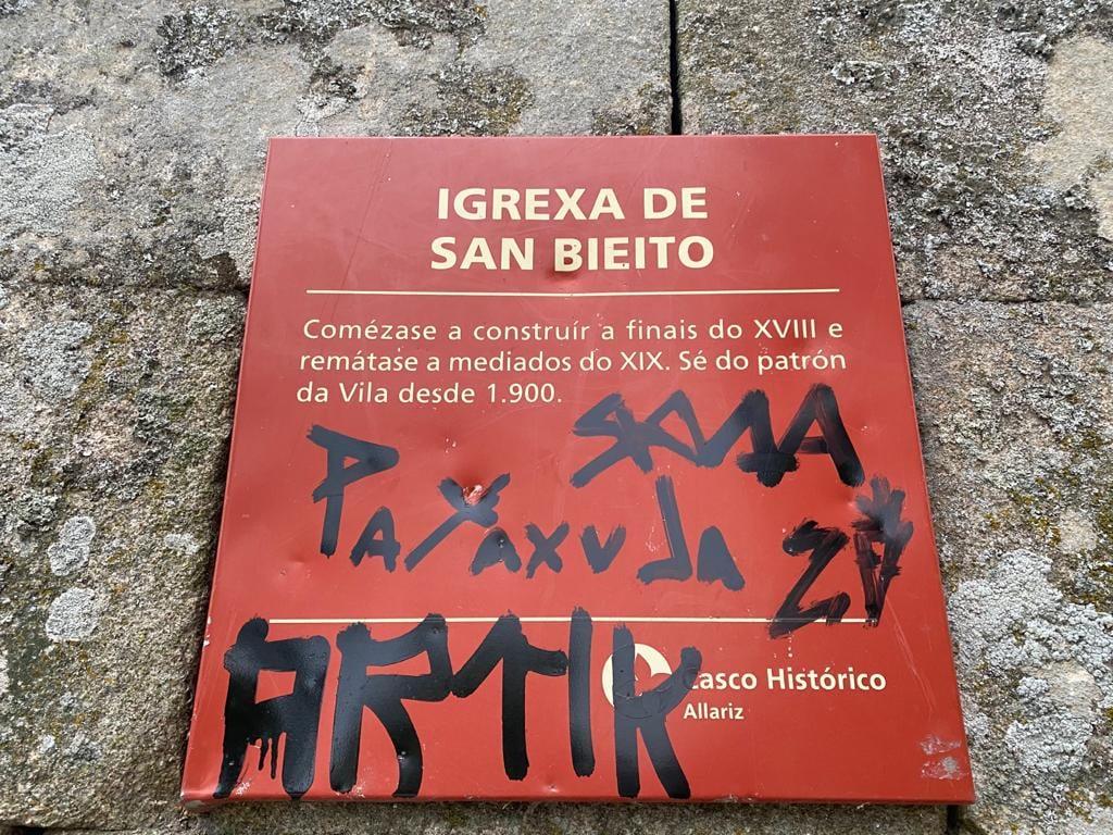 Actos de vandalismo en Allariz