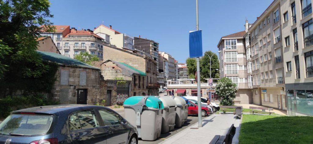 Calle Basilio Alvarez en el barrio del Puente A Ponte