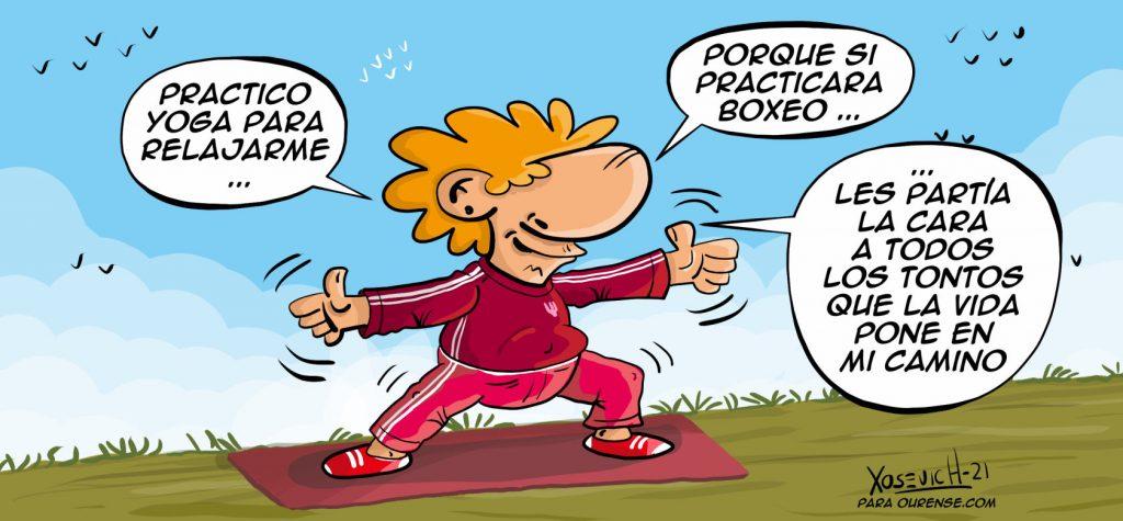 Chiste practicar yoga boxeo tontos cortos graciosos y buenos xosevich 21