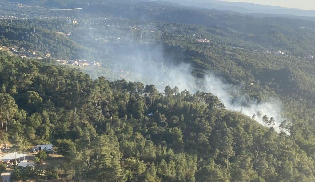 Incendio en Santa Mariña Brigada do Marroxo