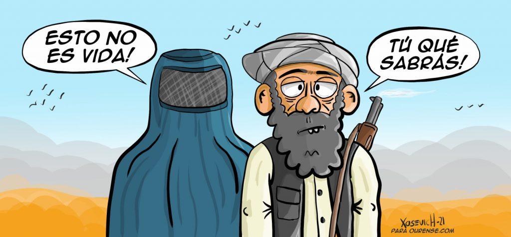 Talibanes invaden afganistán chiste denuncia meme humor Xosevich 21