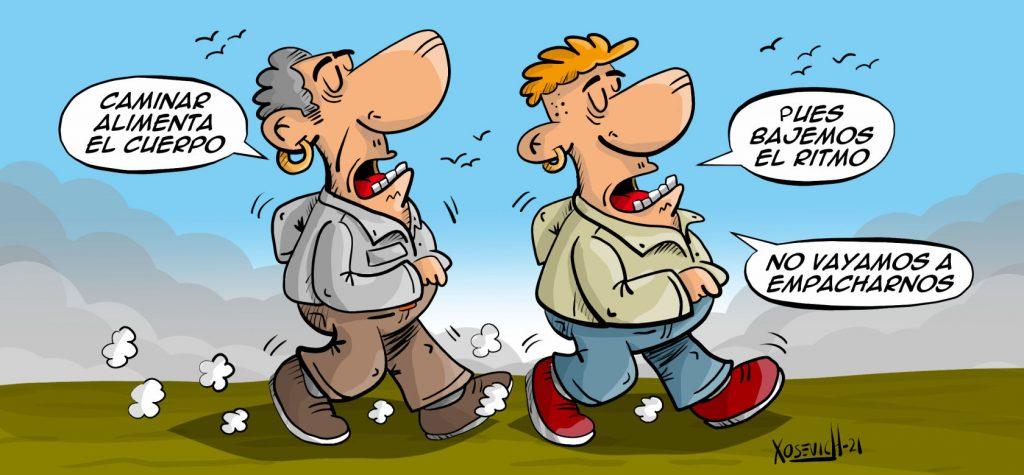 Caminar alimenta el cuerpo chistes humor memes xosevich 21