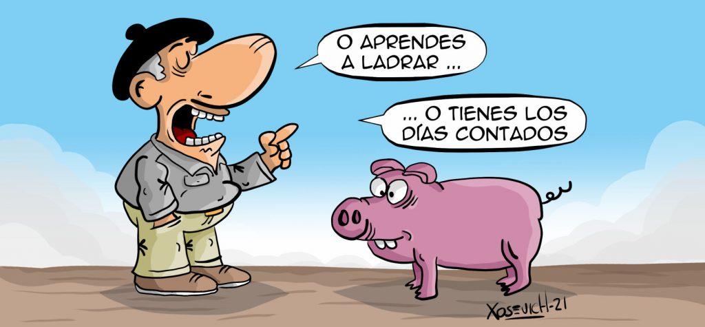 Chiste sobre la matanza del cerdo aprender a ladrar Xosevich 21