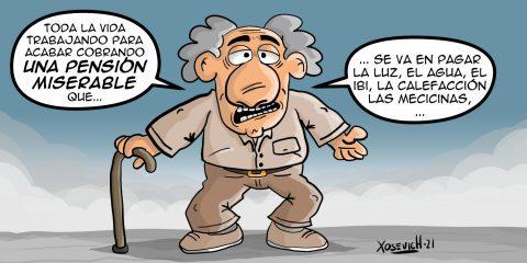 Pensionistas con pensiones bajas pagar luz agua ibi memes xosevich 21