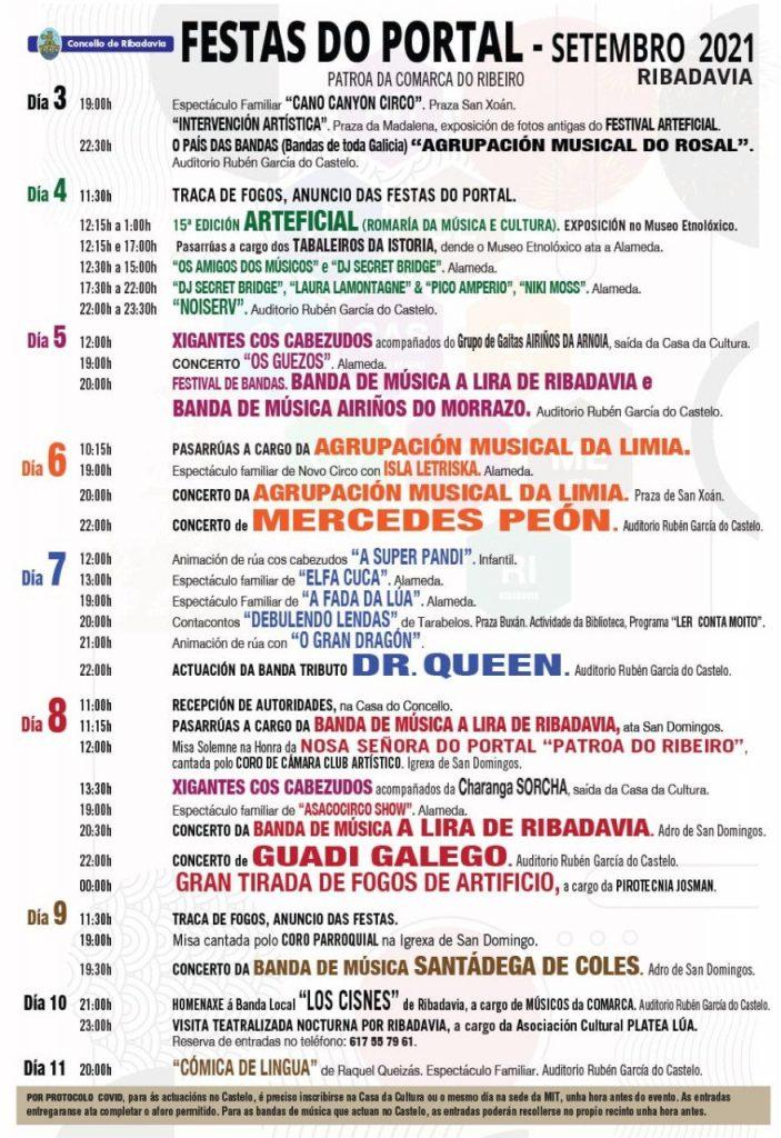 Programa festas do portal 2021 Ribadavia