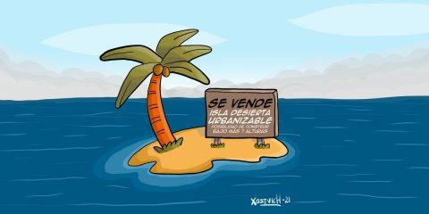 Se vende isla desierta edificable humor chistes memes Xosevich 21