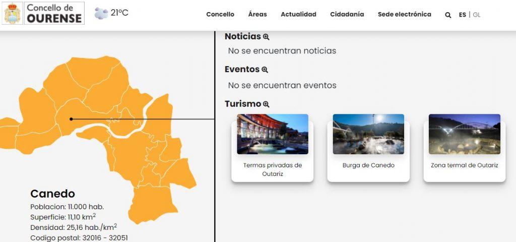 Web concello de Ourense