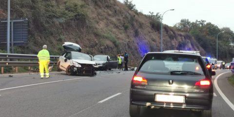 Accidente en N525