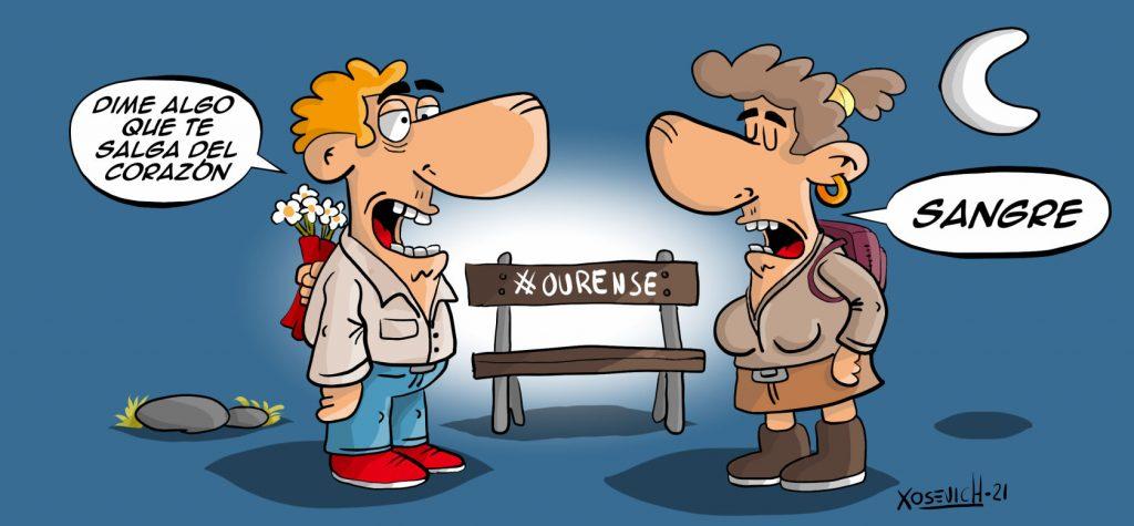 Dime algo que te salga del corazón parque de montealegre en Ourense humor chistes memes Xosevich 21