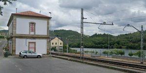 Estación de tren en Barra de Miño