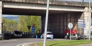 Control de la policía a la salida de Ourense