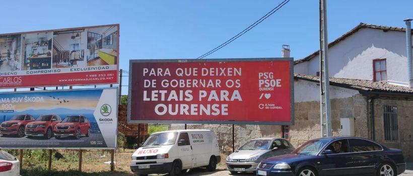 PSOE y su cartel Letais para Ourense