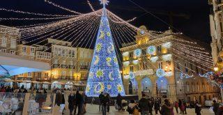 Plaza Mayor con luces de Navidad